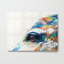 Colorful Horse Art - A Gentle Sol - Sharon Cummings Metal Print