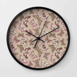 Butterflies pattern Wall Clock