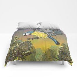 Blue Tit and Teasels Comforters