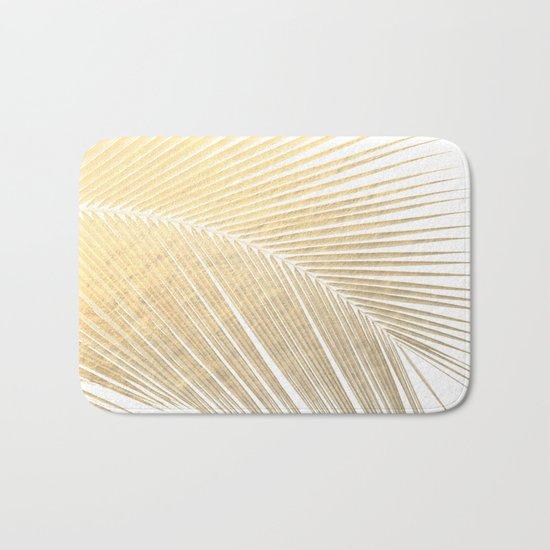 Palm leaf - gold Bath Mat