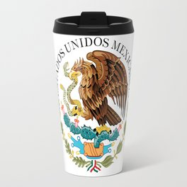 Coat of Arms & Seal  of Mexico on white Travel Mug