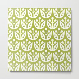 Mid Century Flower Pattern 5 Metal Print