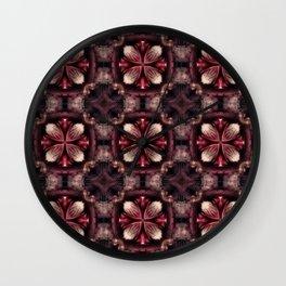 Burgundy Fractal Wall Clock