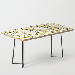 Honey Bumble Bee Yellow Floral Pattern Coffee Table