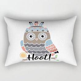 Hoot Boho Owl shirt Rectangular Pillow