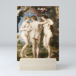 The Three Graces by Peter Paul Rubens, 1635 Mini Art Print