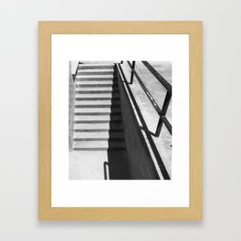 'Steps and Shadow' Urban Photographic Print Framed Art Print