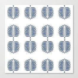 TROPICAL PALMS . BLUE Canvas Print