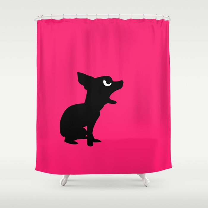 Angry Animals Chihuahua Shower Curtain By Vrijformaat