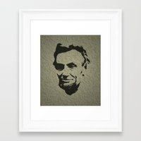 lincoln Framed Art Prints featuring Lincoln by Charles Emlen