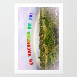 Carte Postale - En vacances de toi Art Print