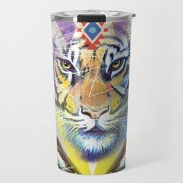 Ethnic tiger art print Travel Mug