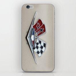 Vintage Corvette Logo (Flags) - Classic Cars iPhone Skin