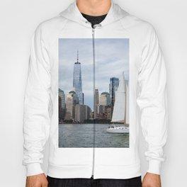Sailing boat against skyline of New York Hoody