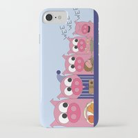 pee wee iPhone & iPod Cases featuring Wee-Wee-Wee by 2hootsdesign