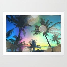 Summer Dreams : Pastel Palm Trees Art Print