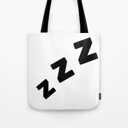 Zzzs in Black Tote Bag