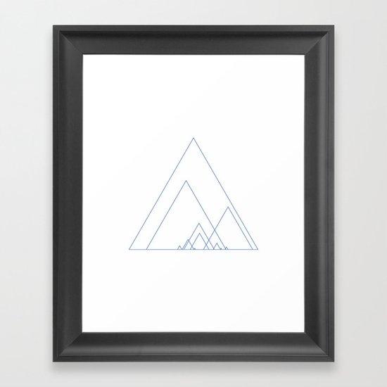 #390 Grand ridge – Geometry Daily Framed Art Print