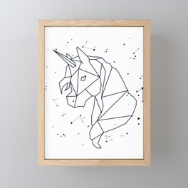 Unicorn Star Constellation Astrology Stars Sign Cute Framed Mini Art Print