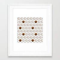 coconut wishes Framed Art Prints featuring Coconut by GOLDASTIC