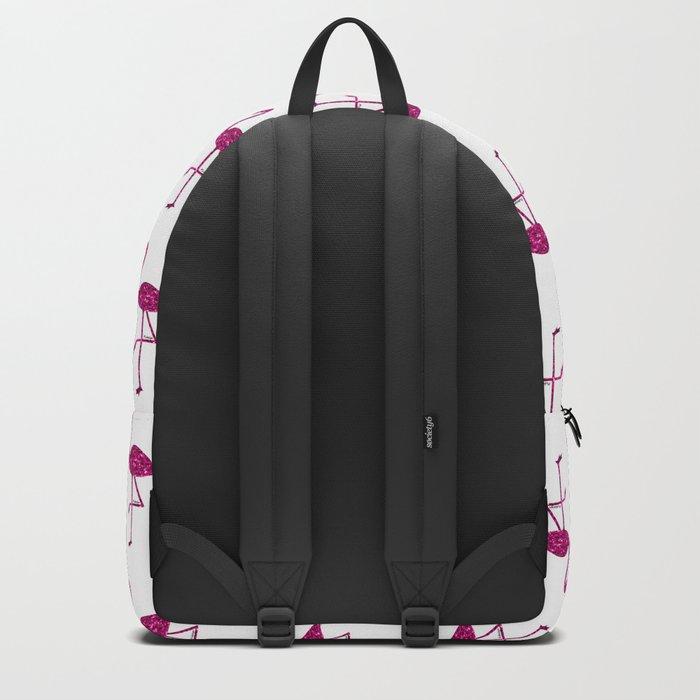 Sparkly flamingo Pink glitter sparkles pattern Backpack