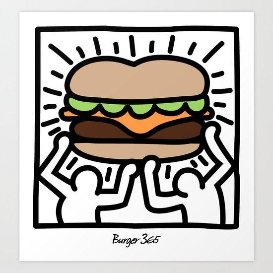 Pop Art Burger #1 Art Print