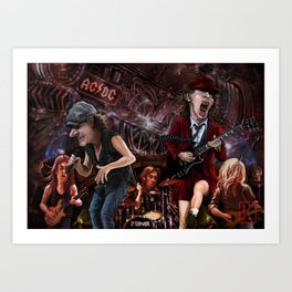 AC/DC Black Ice Art Print