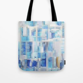 Abstract blue pattern 2 Tote Bag
