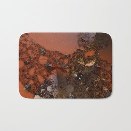 Study of textures and terra cotta Bath Mat