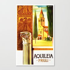 Aquileia Italy - Vintage Travel Canvas Print