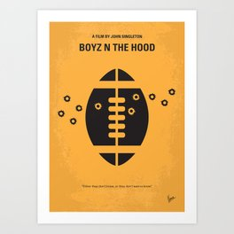 No352 My Boyz N The Hood minimal movie poster Art Print