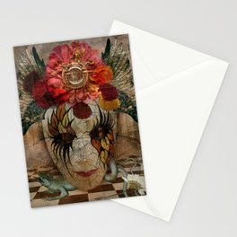 Venetian Mask in Fantasy World Stationery Cards