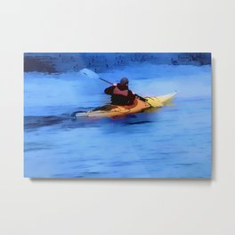 The Explorer    -   Kayaker Metal Print
