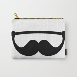 Minimal Funny Fitness Mustache Carry-All Pouch