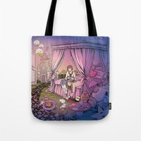 fairy tale Tote Bags featuring Fairy Tale by Katie Badenhorst