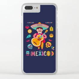Man with Guitar – Mexico Clear iPhone Case