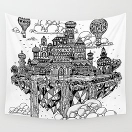 Floating city Wall Tapestry