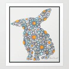 Blues Bunny  Art Print