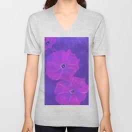 Fuchsia Petunias Unisex V-Neck