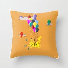 Electric Balloons  Throw Pillow