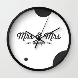 Mrs & Mrs Wall Clock