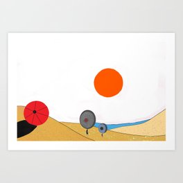 Two pans at the beach Art Print