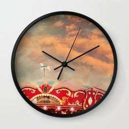 Wonderful Whirled Carousel Wall Clock