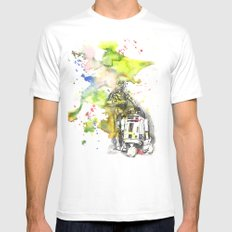 C3PO and R2D2 from Star Wars White MEDIUM Mens Fitted Tee