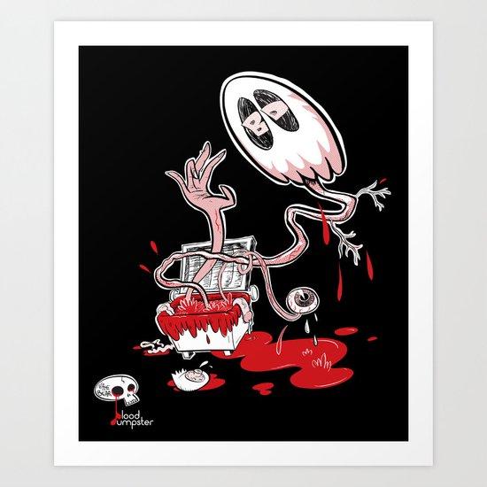 Blood Dumpster Art Print