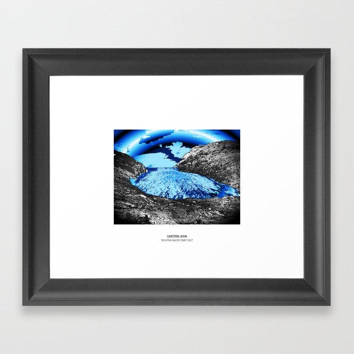 MOUNTAIN GLACIER TOUR I Framed Art Print