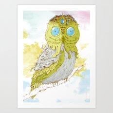 Bubowl Art Print