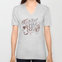 BOB DYLAN, BLOWIN' IN THE WIND Unisex V-Neck