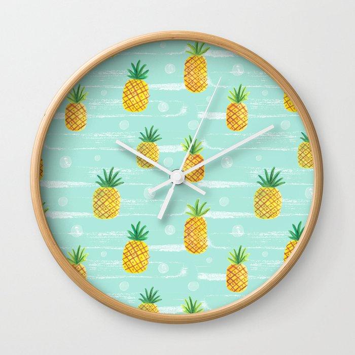 Pineapple Dots  Wall Clock