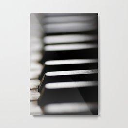 Old piano keys Metal Print